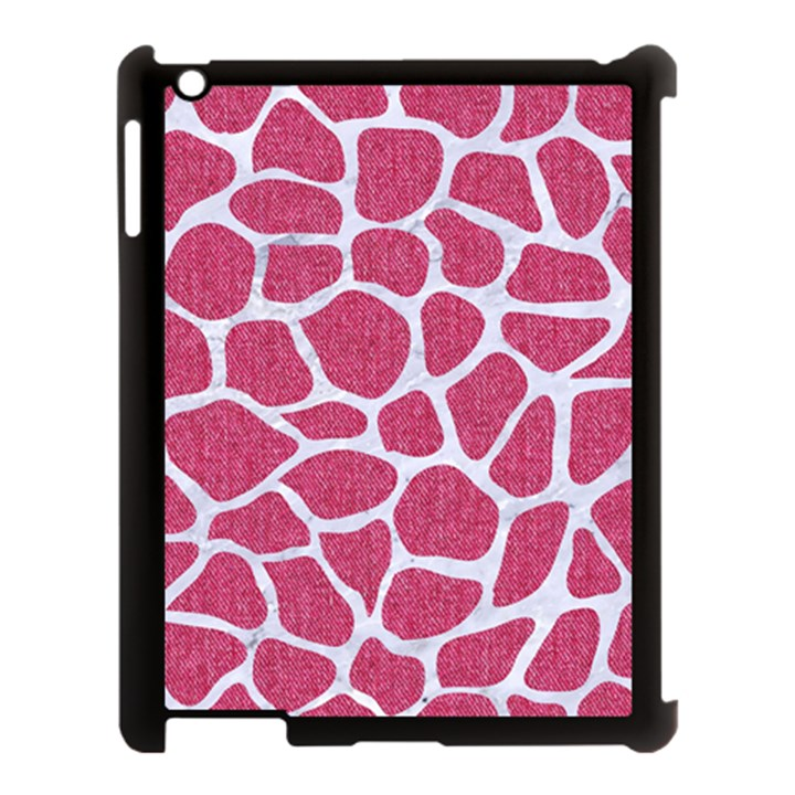 SKIN1 WHITE MARBLE & PINK DENIM (R) Apple iPad 3/4 Case (Black)