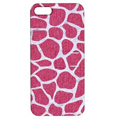 Skin1 White Marble & Pink Denim (r) Apple Iphone 5 Hardshell Case With Stand