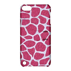 Skin1 White Marble & Pink Denim (r) Apple Ipod Touch 5 Hardshell Case With Stand by trendistuff