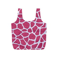 SKIN1 WHITE MARBLE & PINK DENIM (R) Full Print Recycle Bags (S)