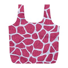 SKIN1 WHITE MARBLE & PINK DENIM (R) Full Print Recycle Bags (L)