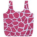 SKIN1 WHITE MARBLE & PINK DENIM (R) Full Print Recycle Bags (L)  Back