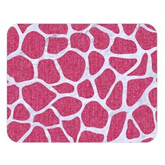 SKIN1 WHITE MARBLE & PINK DENIM (R) Double Sided Flano Blanket (Large)