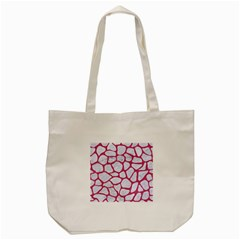 Skin1 White Marble & Pink Denim Tote Bag (cream) by trendistuff
