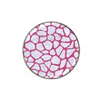 SKIN1 WHITE MARBLE & PINK DENIM Hat Clip Ball Marker (10 pack) Front