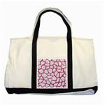 SKIN1 WHITE MARBLE & PINK DENIM Two Tone Tote Bag Front