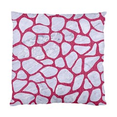 Skin1 White Marble & Pink Denim Standard Cushion Case (two Sides)