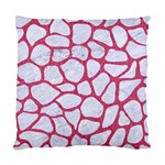 SKIN1 WHITE MARBLE & PINK DENIM Standard Cushion Case (Two Sides) Front