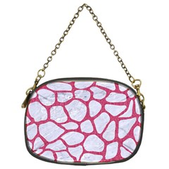 Skin1 White Marble & Pink Denim Chain Purses (two Sides)  by trendistuff