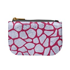 Skin1 White Marble & Pink Denim Mini Coin Purses by trendistuff
