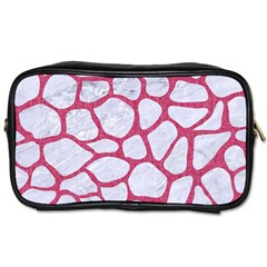 Skin1 White Marble & Pink Denim Toiletries Bags by trendistuff
