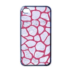Skin1 White Marble & Pink Denim Apple Iphone 4 Case (black)