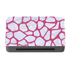 Skin1 White Marble & Pink Denim Memory Card Reader With Cf