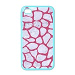 SKIN1 WHITE MARBLE & PINK DENIM Apple iPhone 4 Case (Color) Front