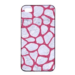 Skin1 White Marble & Pink Denim Apple Iphone 4/4s Seamless Case (black)
