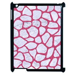 Skin1 White Marble & Pink Denim Apple Ipad 2 Case (black) by trendistuff