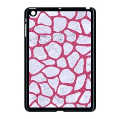 Skin1 White Marble & Pink Denim Apple Ipad Mini Case (black) by trendistuff