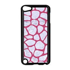 Skin1 White Marble & Pink Denim Apple Ipod Touch 5 Case (black) by trendistuff
