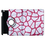 SKIN1 WHITE MARBLE & PINK DENIM Apple iPad 3/4 Flip 360 Case Front