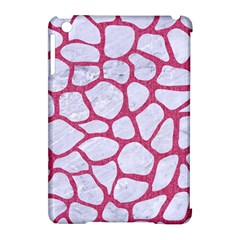 Skin1 White Marble & Pink Denim Apple Ipad Mini Hardshell Case (compatible With Smart Cover) by trendistuff