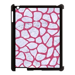 Skin1 White Marble & Pink Denim Apple Ipad 3/4 Case (black) by trendistuff