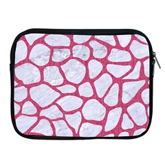 Skin1 White Marble & Pink Denim Apple Ipad 2/3/4 Zipper Cases by trendistuff