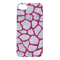 Skin1 White Marble & Pink Denim Apple Iphone 5s/ Se Hardshell Case by trendistuff
