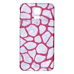 Skin1 White Marble & Pink Denim Samsung Galaxy S5 Back Case (white) by trendistuff