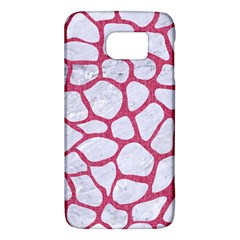 Skin1 White Marble & Pink Denim Galaxy S6 by trendistuff