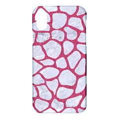 Skin1 White Marble & Pink Denim Apple Iphone X Hardshell Case