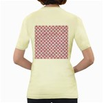 SCALES3 WHITE MARBLE & PINK DENIM (R) Women s Yellow T-Shirt Back