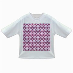 SCALES3 WHITE MARBLE & PINK DENIM (R) Infant/Toddler T-Shirts