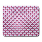 SCALES3 WHITE MARBLE & PINK DENIM (R) Large Mousepads Front