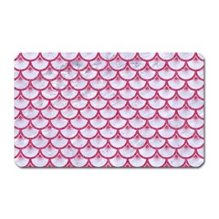 Scales3 White Marble & Pink Denim (r) Magnet (rectangular) by trendistuff