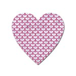 SCALES3 WHITE MARBLE & PINK DENIM (R) Heart Magnet Front