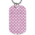 SCALES3 WHITE MARBLE & PINK DENIM (R) Dog Tag (One Side) Front
