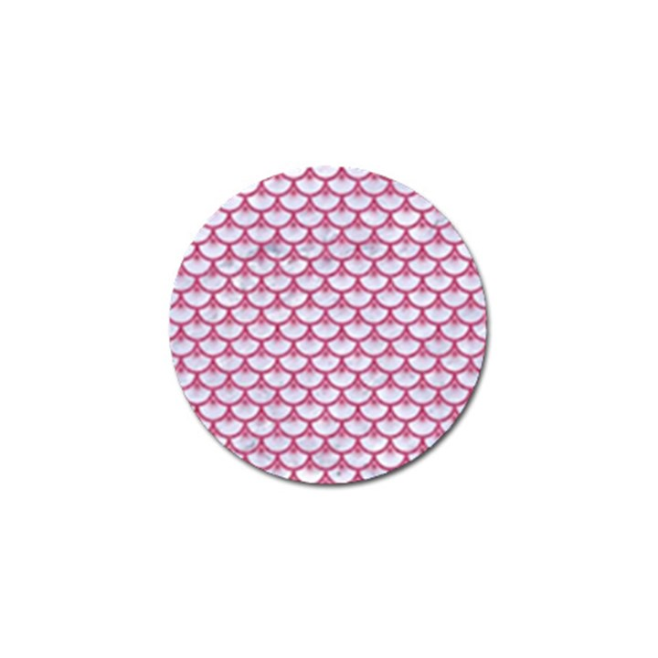 SCALES3 WHITE MARBLE & PINK DENIM (R) Golf Ball Marker (4 pack)