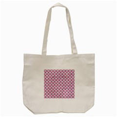 Scales3 White Marble & Pink Denim (r) Tote Bag (cream) by trendistuff