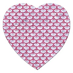 SCALES3 WHITE MARBLE & PINK DENIM (R) Jigsaw Puzzle (Heart)