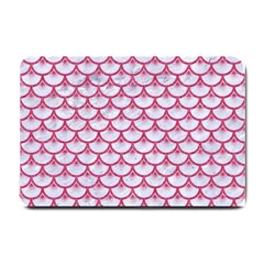 SCALES3 WHITE MARBLE & PINK DENIM (R) Small Doormat