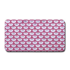 Scales3 White Marble & Pink Denim (r) Medium Bar Mats