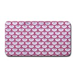 SCALES3 WHITE MARBLE & PINK DENIM (R) Medium Bar Mats 16 x8.5  Bar Mat