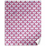 SCALES3 WHITE MARBLE & PINK DENIM (R) Canvas 11  x 14   14 x11 Canvas - 1