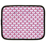 SCALES3 WHITE MARBLE & PINK DENIM (R) Netbook Case (Large) Front