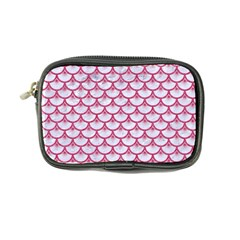 Scales3 White Marble & Pink Denim (r) Coin Purse