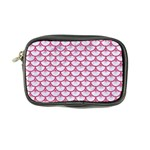 SCALES3 WHITE MARBLE & PINK DENIM (R) Coin Purse Front