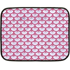 SCALES3 WHITE MARBLE & PINK DENIM (R) Double Sided Fleece Blanket (Mini)
