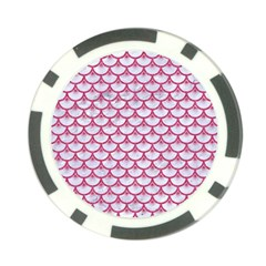 Scales3 White Marble & Pink Denim (r) Poker Chip Card Guard (10 Pack) by trendistuff