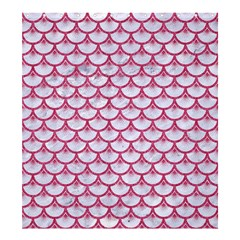 Scales3 White Marble & Pink Denim (r) Shower Curtain 66  X 72  (large)