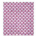 SCALES3 WHITE MARBLE & PINK DENIM (R) Shower Curtain 66  x 72  (Large)  58.75 x64.8  Curtain